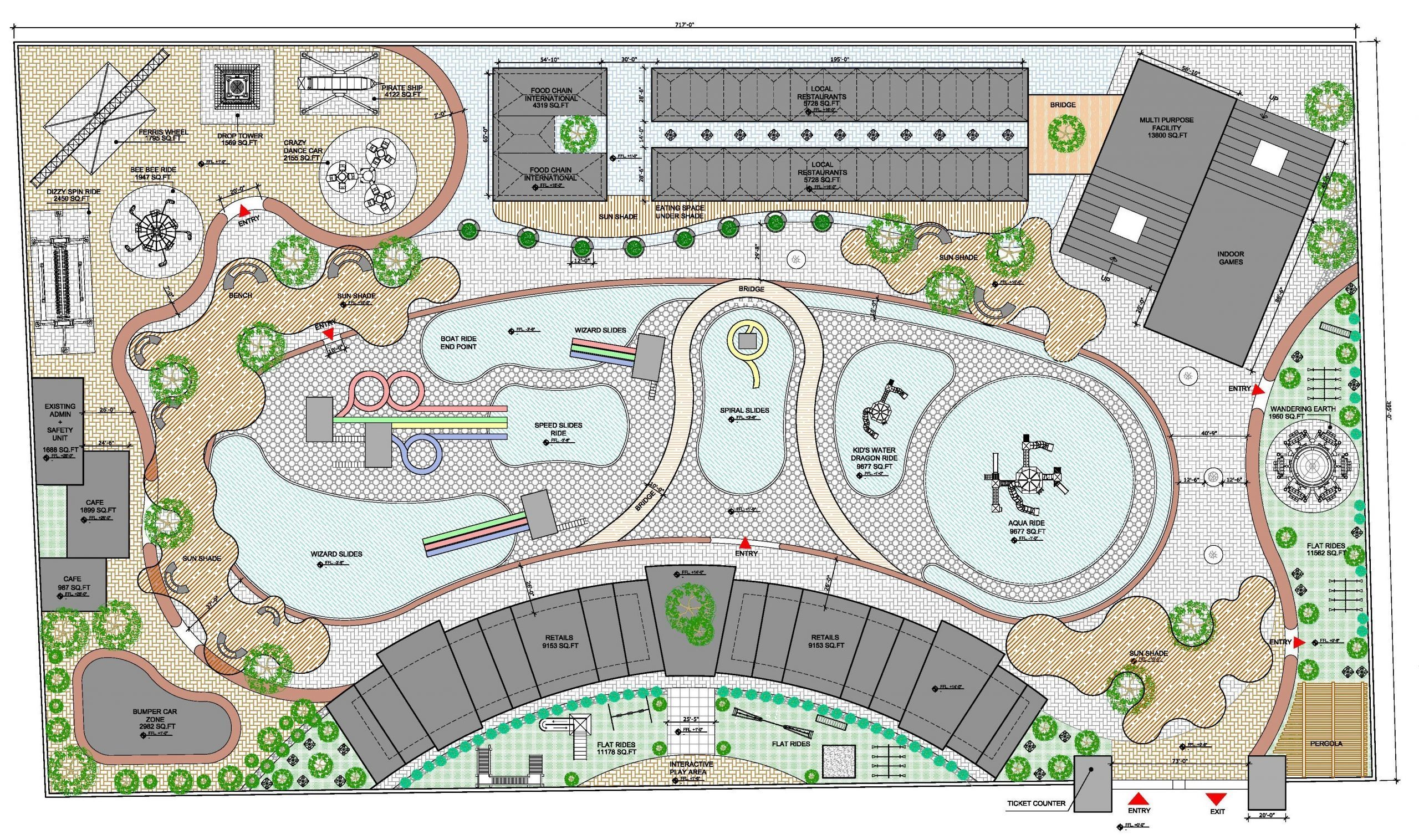 Plan for Theme Park