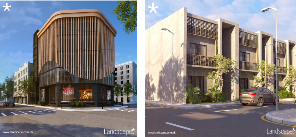 A 254 SQYD Commercial Building and a 120 SQYD Residences for a Sub-Urban Society
