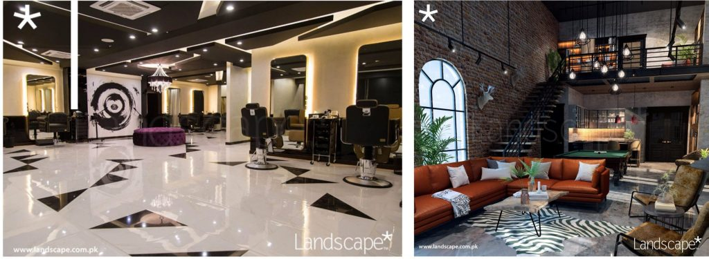 A Luxurious Salon & Interiors of a Residential Man-Cave