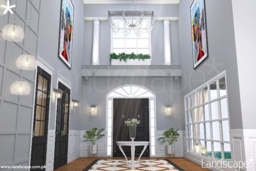 Well-Lit Foyer