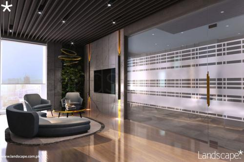 Modern Interiors of Executive Lobby