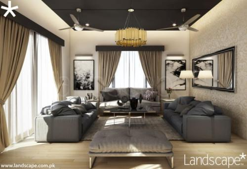 Lounge 3D with Furnishings