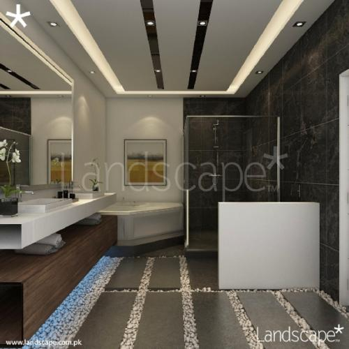 8. Spacious Master Bathroom