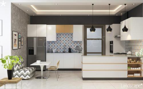 Modern-Kitchen-with-Pendant-Lighting-Fixtures