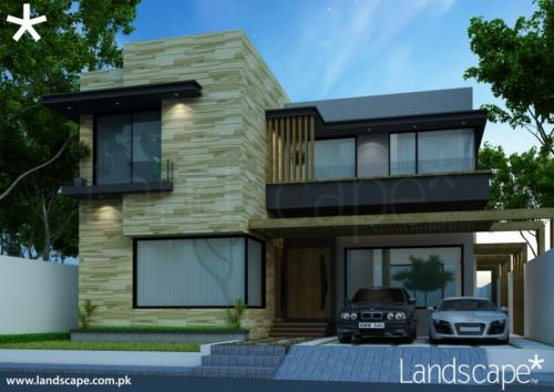 Modern Facade Design in Wood and Glass