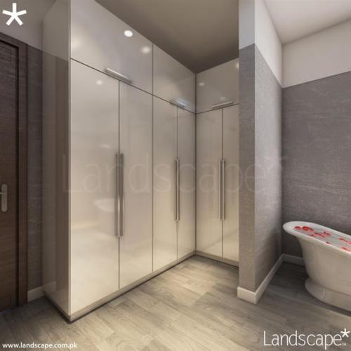 Modern Luxury Bathroom Design with Floor-to-Ceiling Bathroom Vanity Cabinets Maximizing Storage Space