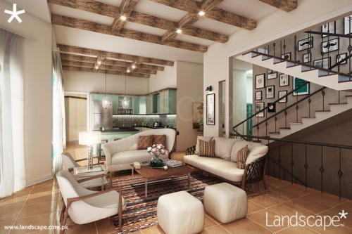 Lounge In Organic Themed Interior