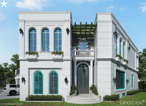 Mediterranean-Style-Residence-with-Arched-Windows-and-Door