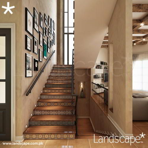 Stairs in a Warm Interior Setting
