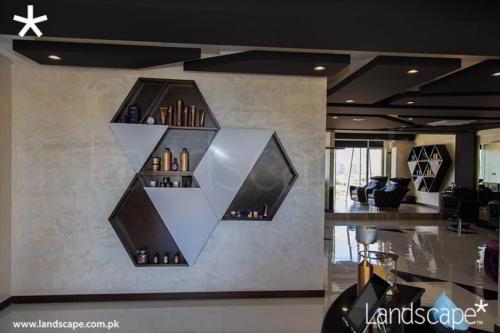 Hexagon Product Display Shelves
