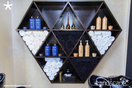 Shampoo Area Shelves