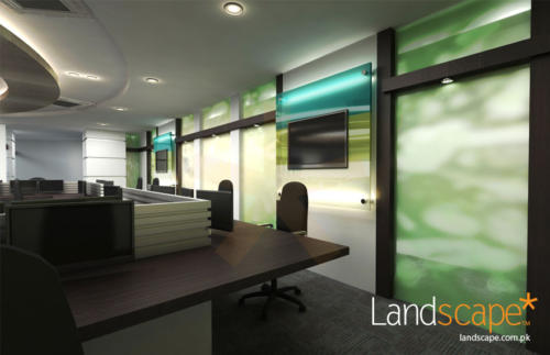 LCD-on-Glass-Feature-Wall-Using-Bank-Corporate-Theme-Colors