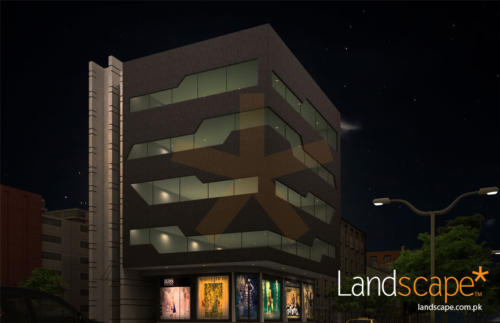 Night-View-of-commercial-building-elevation