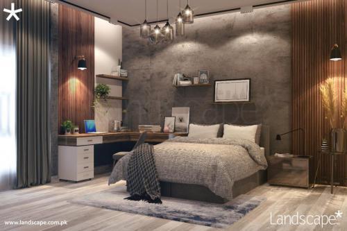 Minamalistic Bedroom with a Study Desk