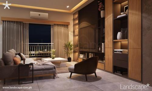 Warm and Comfortable Living Room by the Balcony