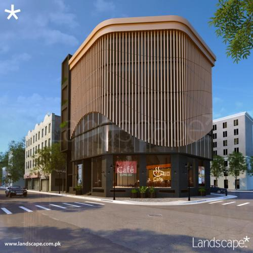 Commercial Building Design with Artistic Cuts and Joinery