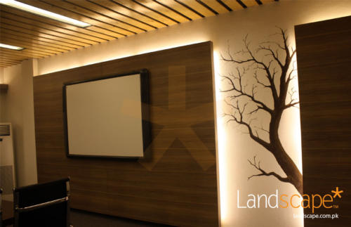 Clear--Closer-View-of-the-Wall-Art-Hand-Painted--Feature-LCD-Wall-Design