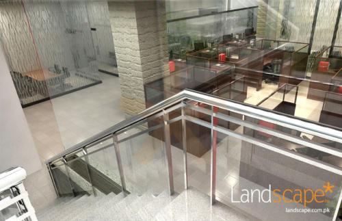 Classy-terrazo-steps-metal-handrails-with-gun-metallic-finish-add-to-the-look