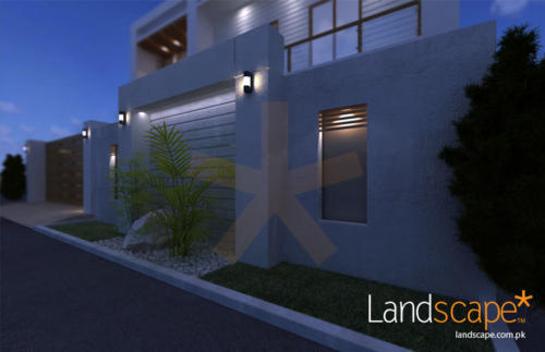 Boundary-Wall-Design-with-Textured-Paint-Dry--Wet-Landscaping