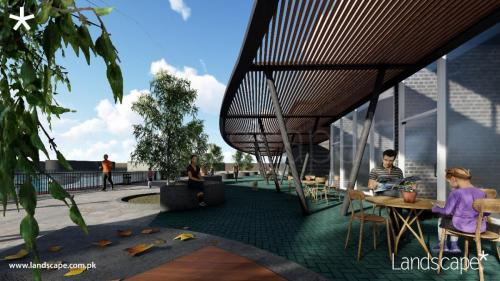 Shaded Walkthrough and Outdoor Seating