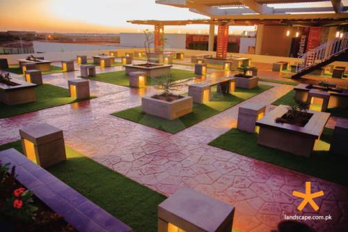 Landscaping-Design-of-Rood-Top-Terrace-at-Habib-University