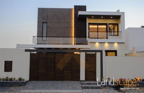 Exterior-Facade-of-a-modern-house