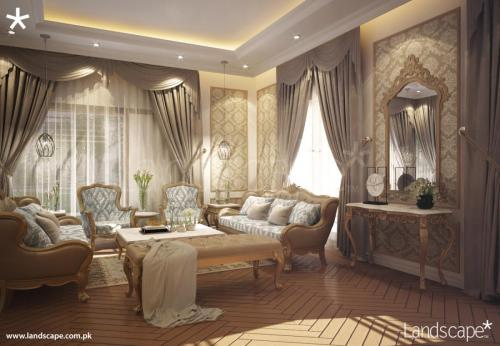 Opulent Drawing Room Interiors