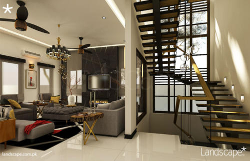 Living-Room-and-Staircase-Interiors