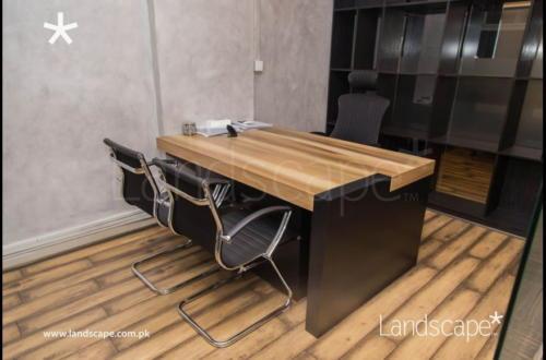 Functional Wooden Desks and Shelves