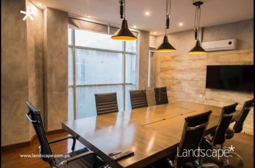 Rustic Boardroom Interior