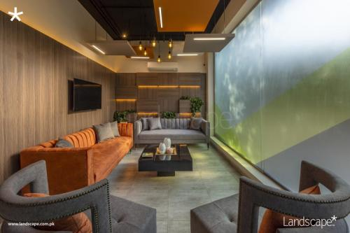 Sophisticated yet Enlivening Waiting Area