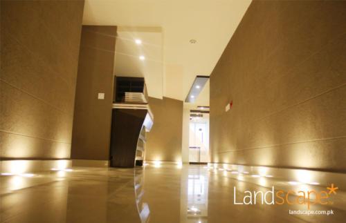 floor-lights-illuminating-entrance-walkway