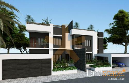 Exterior-facade-of-oman-twin-villa