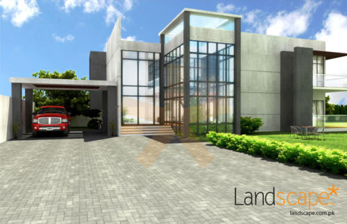 Annexe-Design-An-Overall-View-of-Modern-Architecture-Exterior-Facade-and-Lawn-Area
