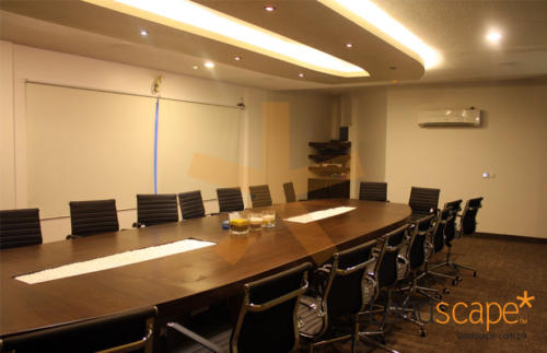 Another-View-showing-Conference-Table-Designed-in-Same-Shape-as-Ceiling