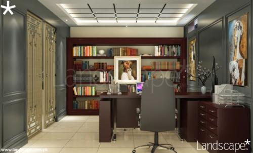 Home Office Interior Ceiling Wall Cladding