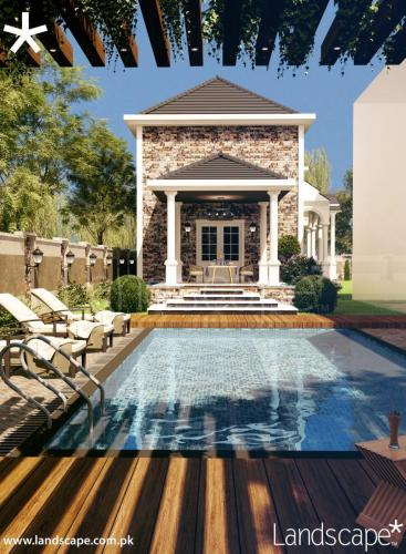 Mediterranean Residence Annexe - Swimming Pool and Pergola